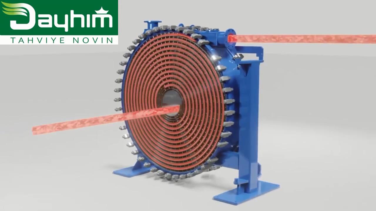 مبدل حرارتی مارپیچی (Spiral heat exchangers)